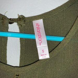 Xhilaration Tops - green flowy tank top